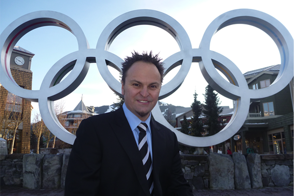 Steve with Olympic Rings